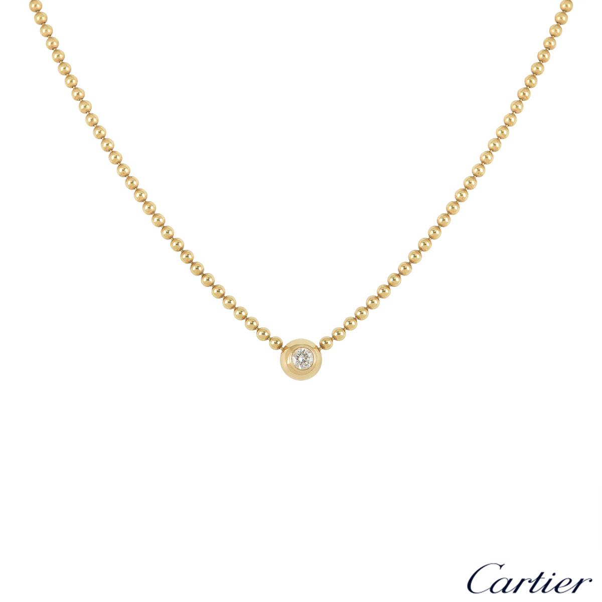 1cf258ce5cd7de Cartier Yellow Gold Diamond Beaded Necklace